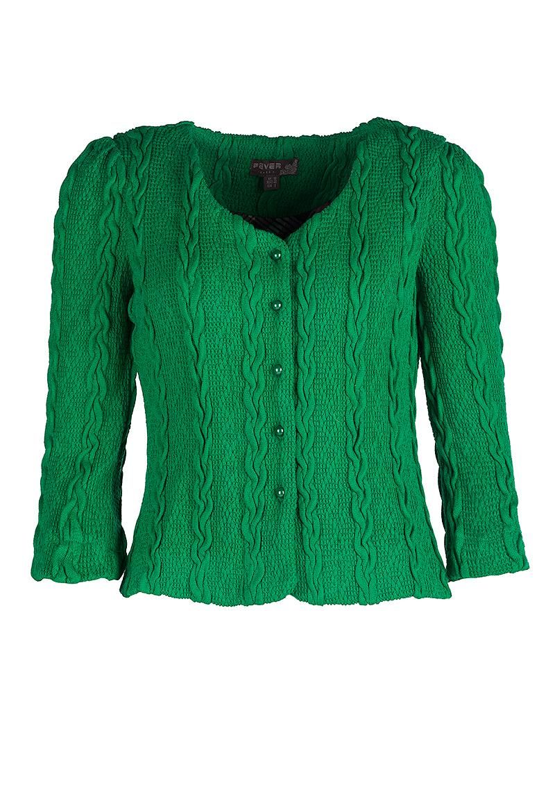 Køb Fever London cardigan i grøn - Bray emerald green hos denckerdeluxe.dk
