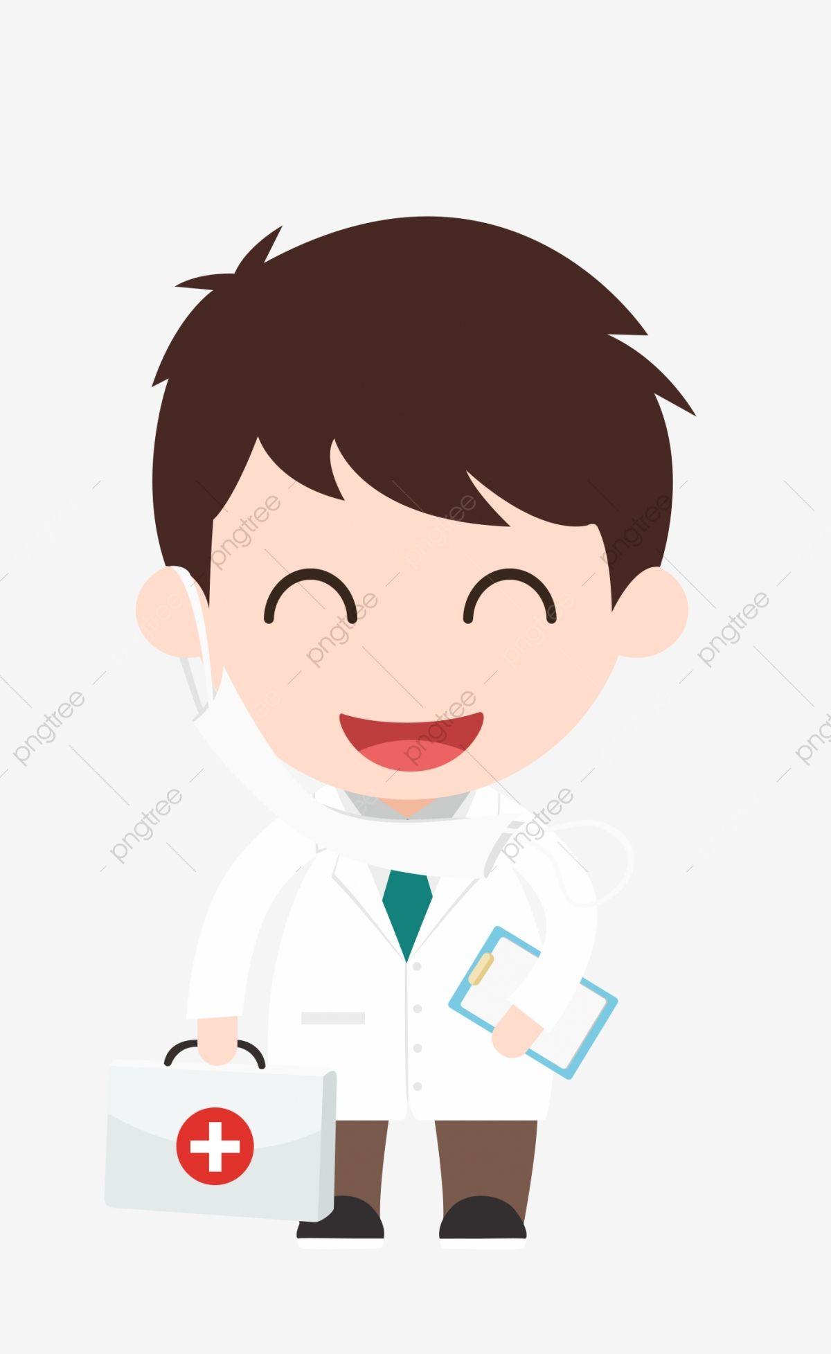 Medical Cartoon Doctor Cute Smiley Face Wear White Coat Medicine Box Rescue Png Transparent Clipart Image And Psd Cute Smiley Face Cartoon Cartoon Clip Art