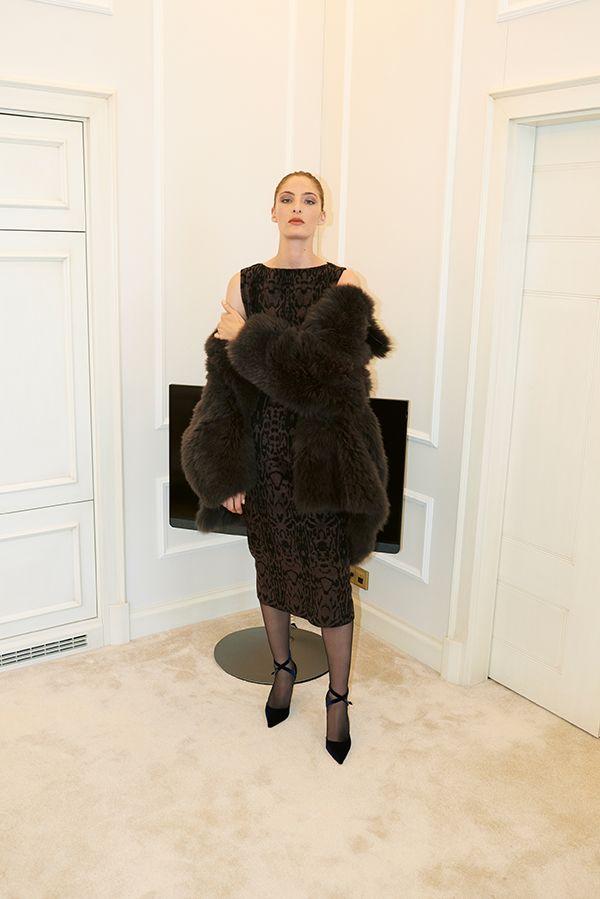 Azzedine Alaïa dress and coat, Manolo Blahnik pumps #aproposjournal #aw19 #alaia #azzedinealaia