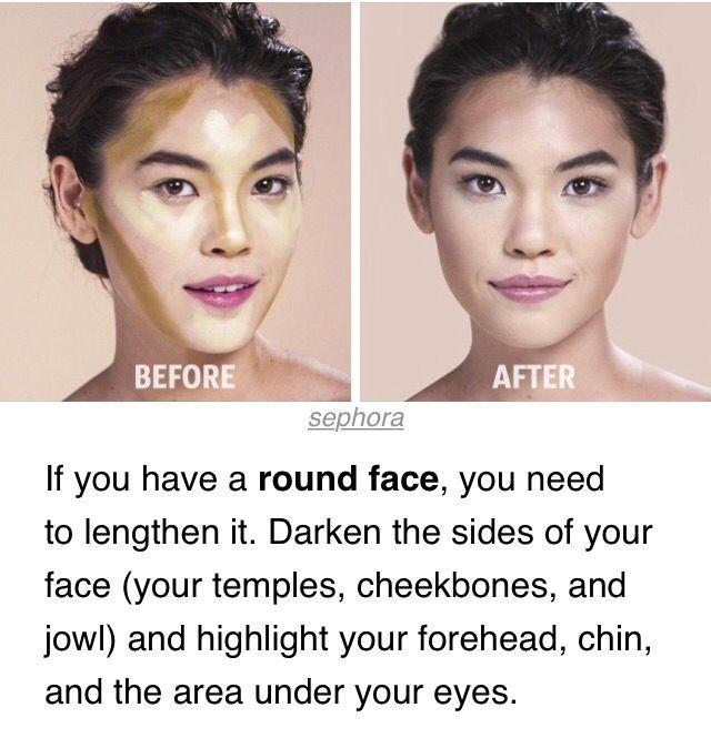 Contour round face make up pinterest contours face and makeup contour round face ccuart Image collections