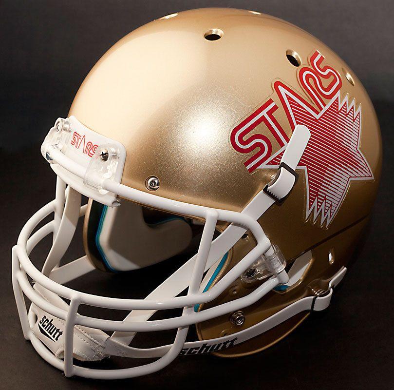 Phila. Stars Game helmet Nfl football players, Football