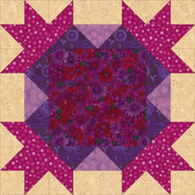 Try This Easy Assembly Method To Make 16 Points Quilt