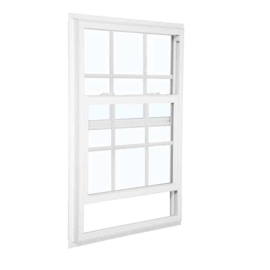 Reliabilt 105 Vinyl New Construction White Exterior Single Hung Window Rough Opening 36 In X 36 In Reliabilt Single Hung Windows New Construction