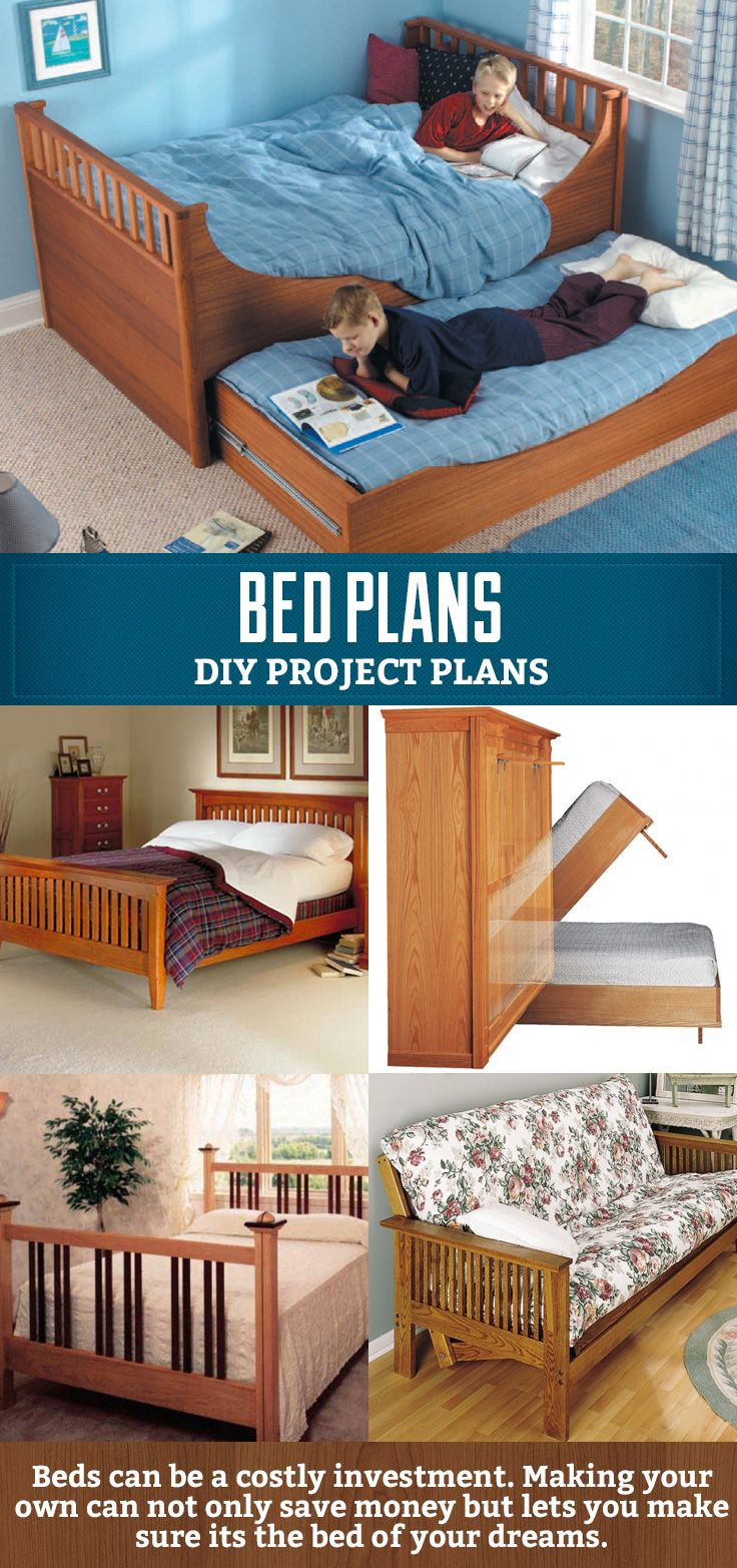 Diy Bed Plans Great Project If You Want To Make Your Own Trundle Murphy Or Futon