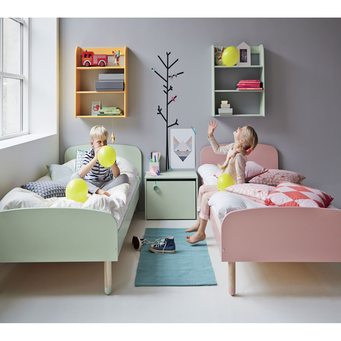 FLEXA Play junior bed with a modern retrolook is perfect