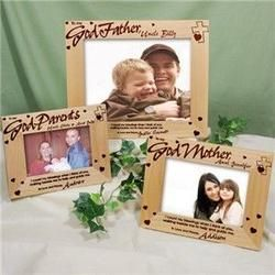 To My Godparent Personalized Godmother or Godfather Wood Picture Frame