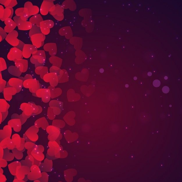 Außergewöhnlich Bokeh Valentines Day Background In Purple Tones Free Vector