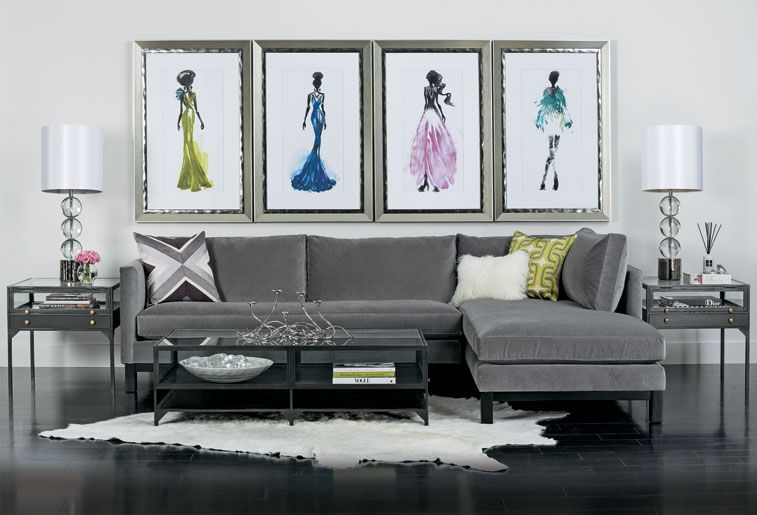 Studio en vogue farrell sectional http www highfashionhome com · modern