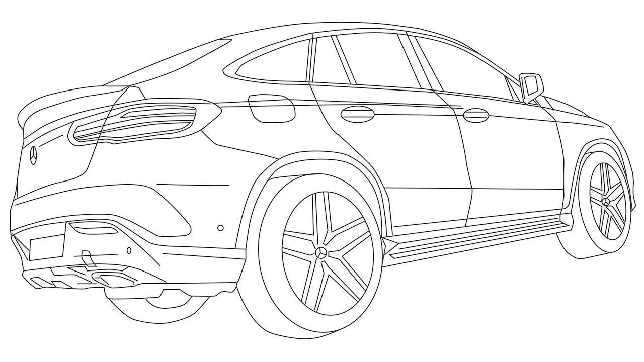 Mercedes Gle 350 D 4matic Coupe Create Digital Drawing Illustration Digital Drawing Drawings Mercedes Benz Gle