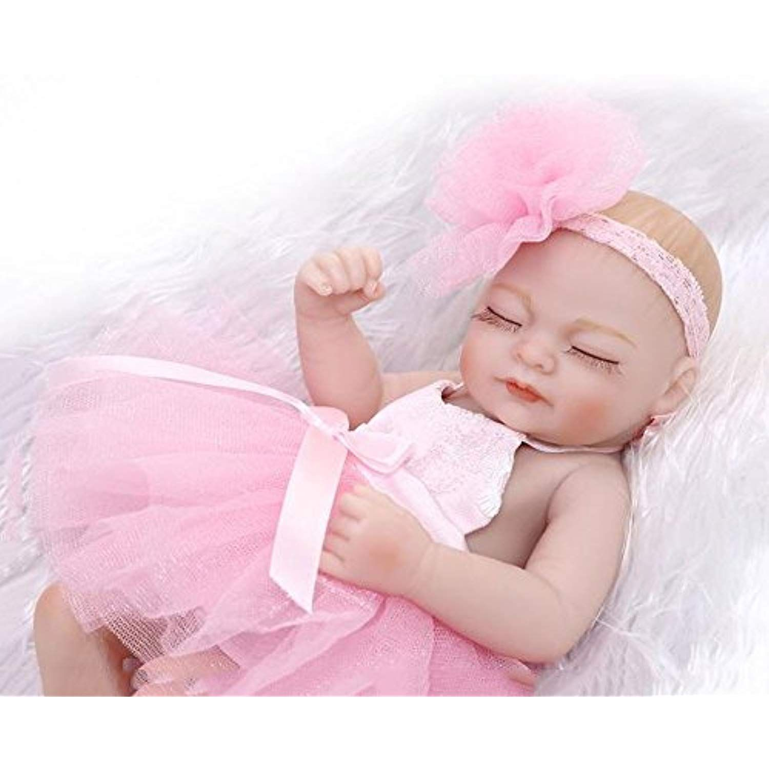 Xnyy Baby Doll Simulation Full Silicone Vinyl 10 Inch 26cm Realistic Boy Girl Toy Silicone Vinyl Entertainment Toys Toys For Girls Baby Dolls Doll Accessories