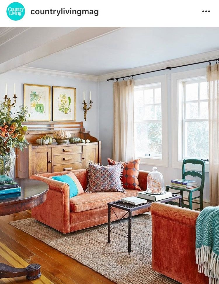 A More Neutral Rug Living Room Orange Orange Living Room Sofas Living Room Sofa #orange #living #room #furniture