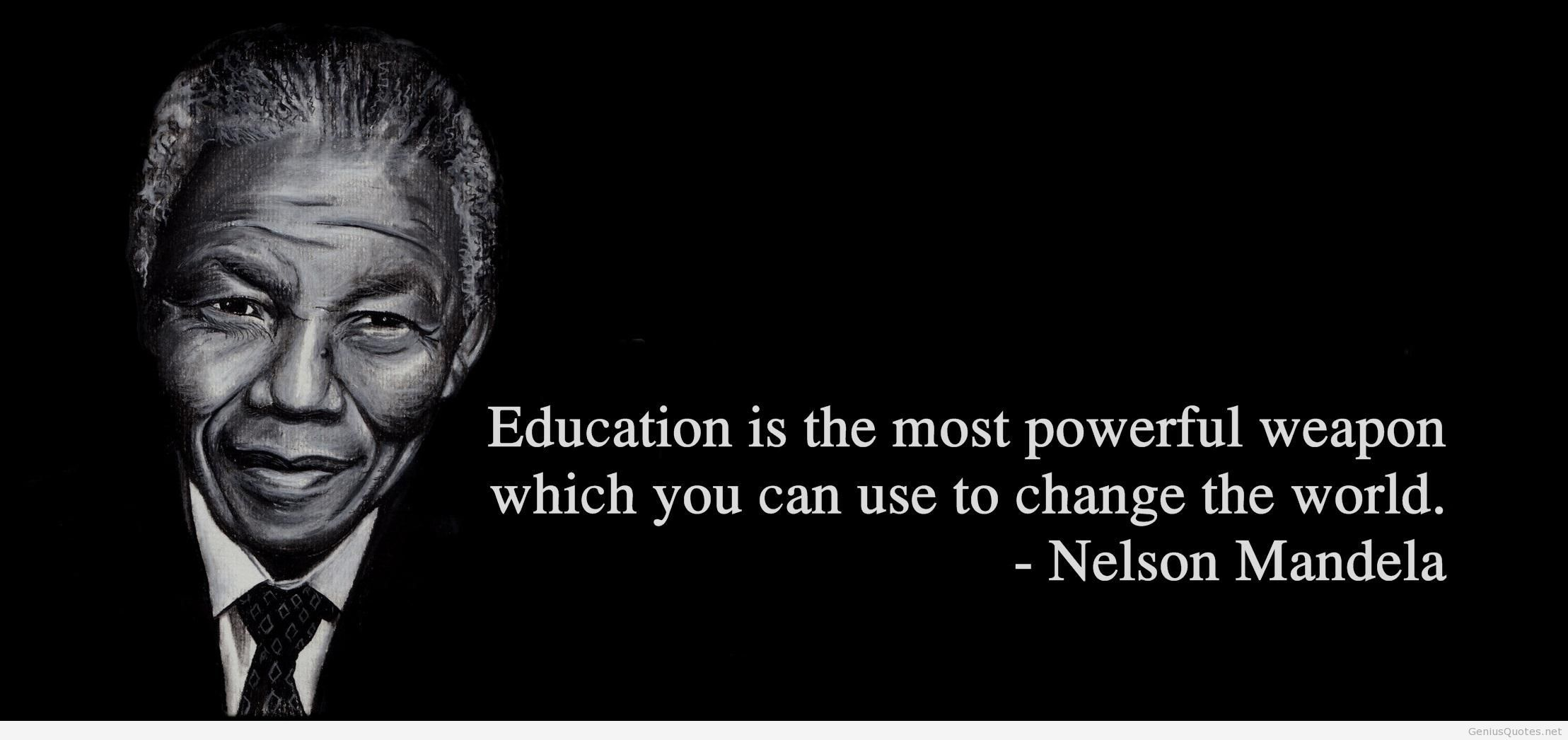 Image result for nelson mandela quote on education