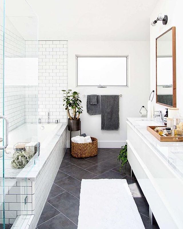 A bit of bathroom inspiration by crateandbarrel 100 for Badezimmer ideen instagram