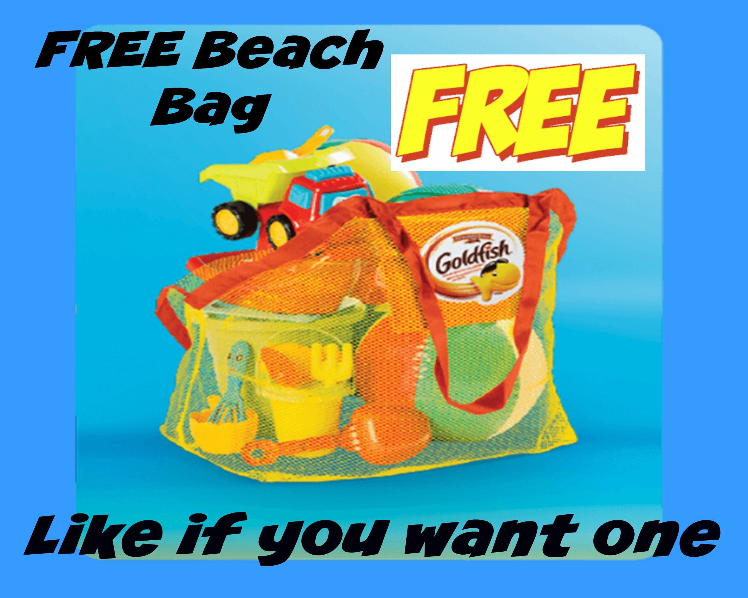 FREE GoldFish Beach Bag With Purchase (While Supplies Last) http://www.lavahotdeals.com/ca/cheap/free-goldfish-beach-bag-purchase-supplies/94097