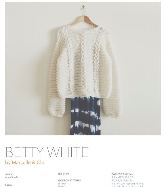 KNIT PATTERN in english and french - Sweater \