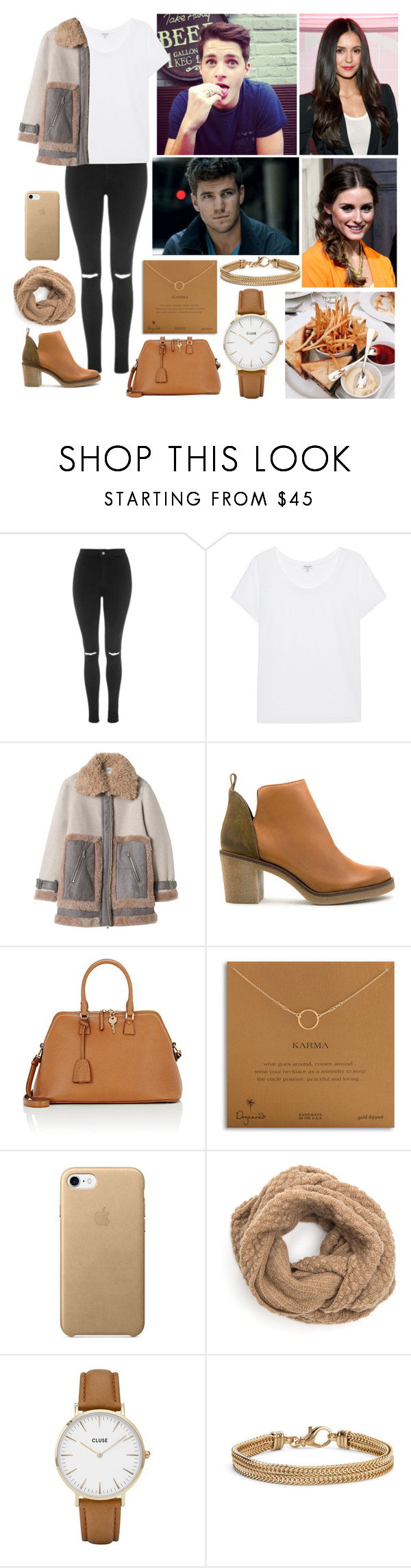 """""""Spending the afternoon with my siblings in London."""" by duchessamparo ❤ liked on Polyvore featuring Topshop, Splendid, Miista, Maison Margiela, Dogeared, CLUSE and Blue Nile"""