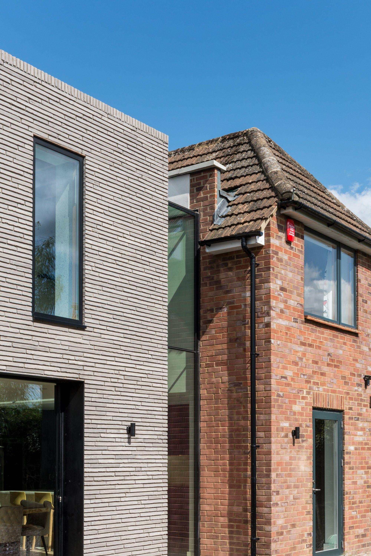 Long Brick House Double Story Extension Chilterns Seer Green Bradley Van Der Straeten Brick Extension Brick Architect