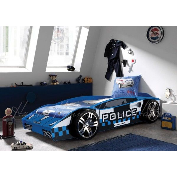 kids police car bed with or without mattress