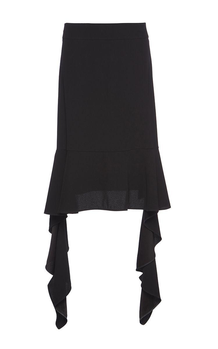 Satin Back Crepe Ruffle Skirt by MARNI for Preorder on Moda Operandi