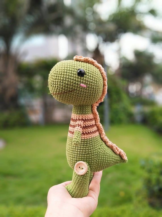 Amigurumi Dinosaur Pattern/ Crochet Dinosaur Pattern /  Mr. T the dino crochet pattern / Tyrannosaur #crochetdinosaurpatterns