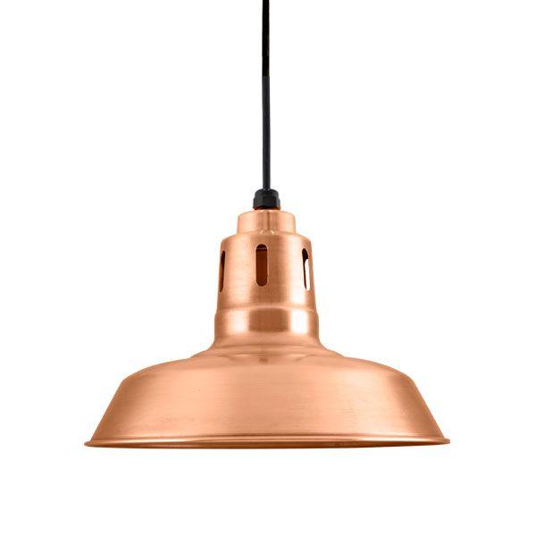"12"" Original, 995-Raw Copper, Narrow Slot Vents, Copper Hex Cover, SBK-Standard Black Cord"