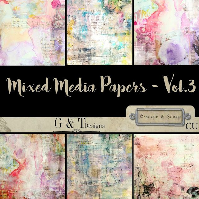 E-scape and Scrap: G&T Designs - New CU Papers, Whimsical Vol.1 & Freebies