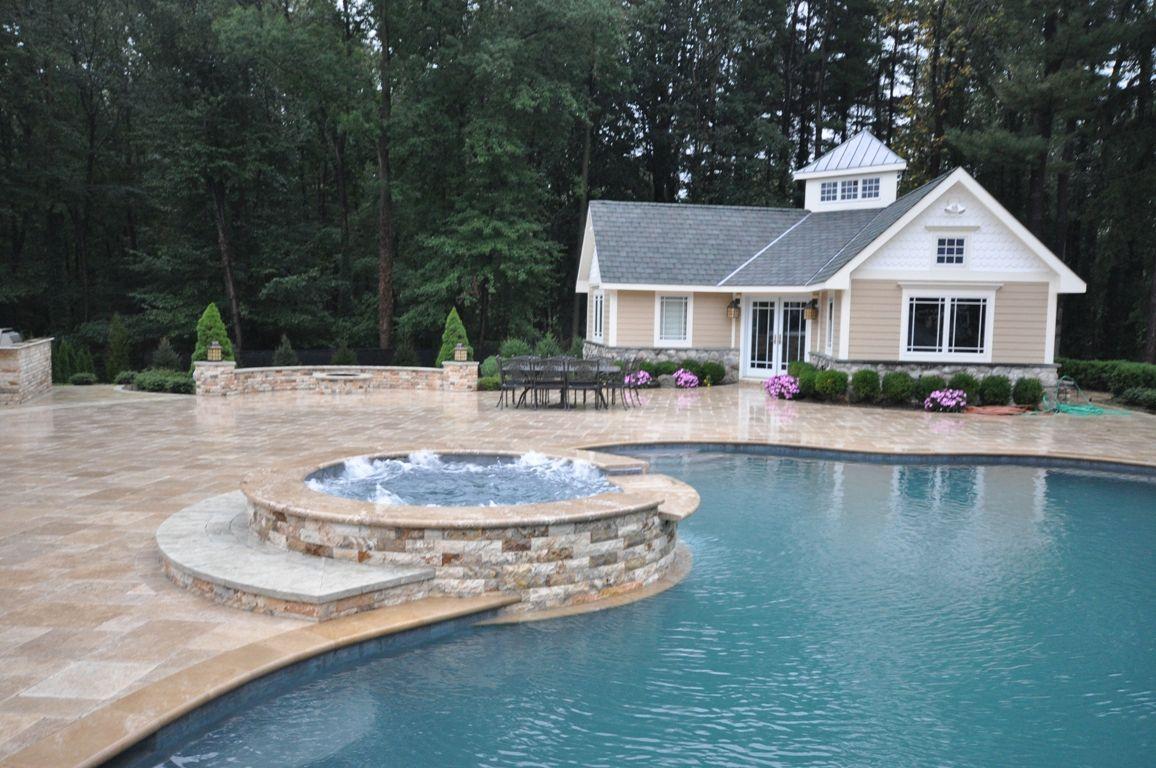 Gunite Pool Spas Natursl Stone Custom Coping