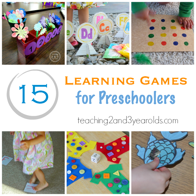 15 Learning Games For Preschoolers Teaching 2 And 3 Year