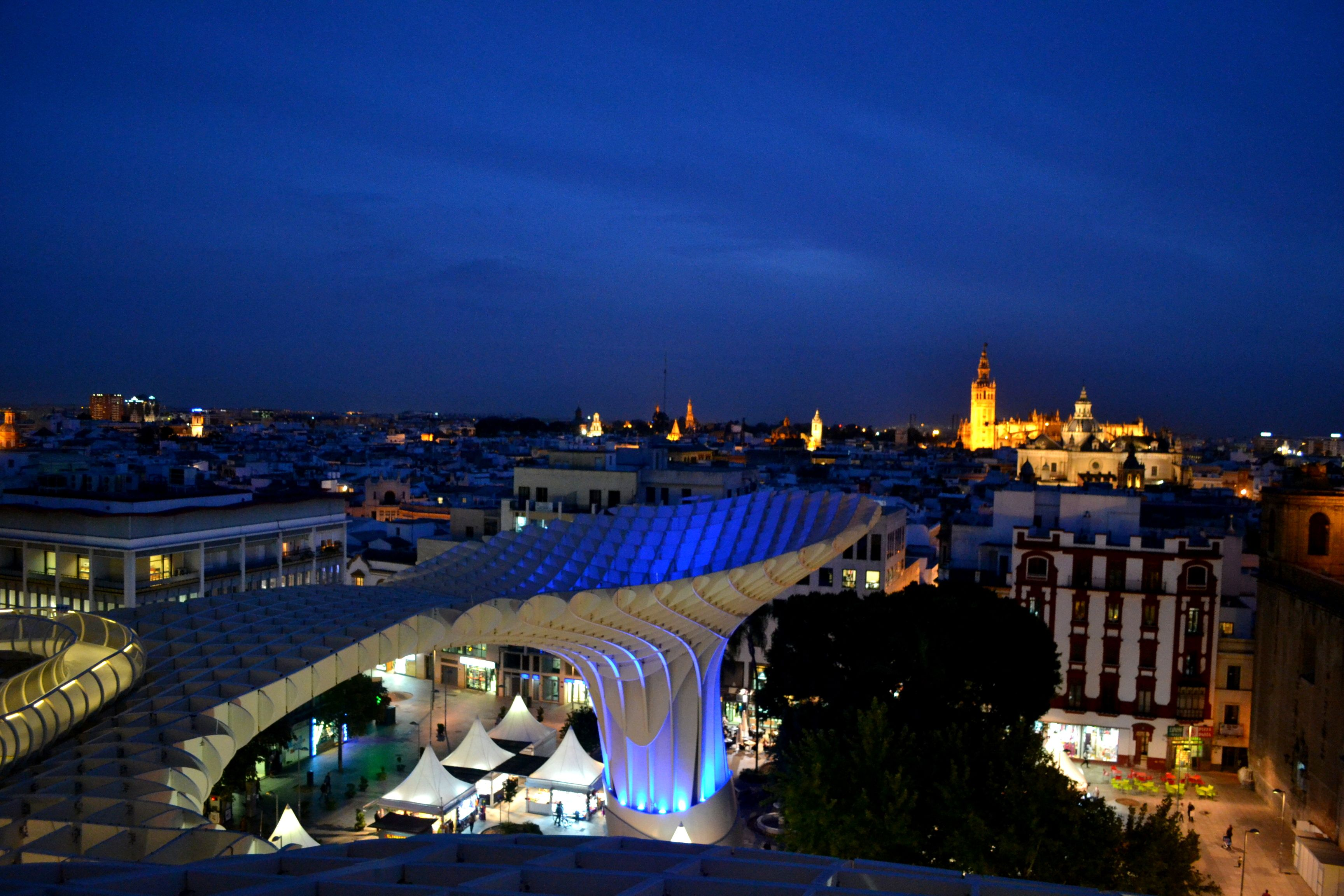 """Went with 2 friends to climb """"Las Setas"""" in Sevilla for a gorgeous view of the city"""