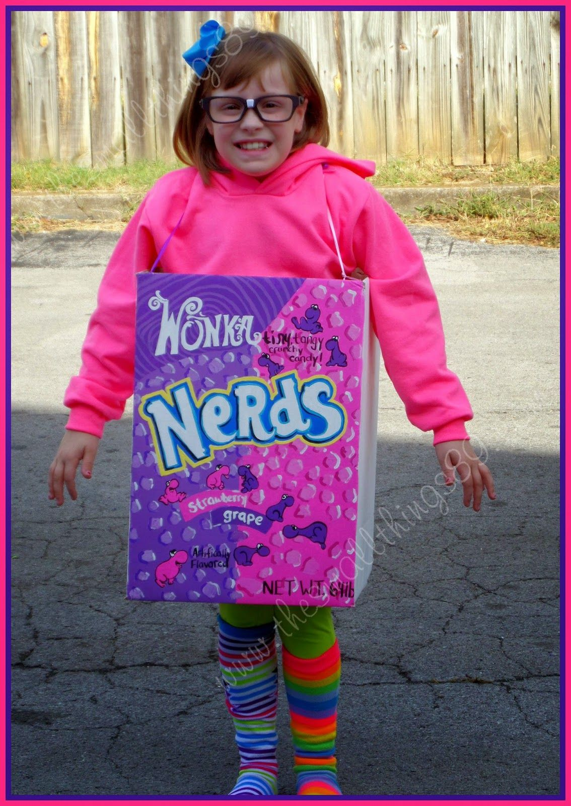 DIY Homemade Nerds Candy Halloween Costume!  sc 1 st  Pinterest & DIY Homemade Nerds Candy Halloween Costume! | Holidays - Halloween ...