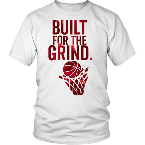 "HOOPIFY- ""BUILT FOR THE GRIND"" T-SHIRT RED"