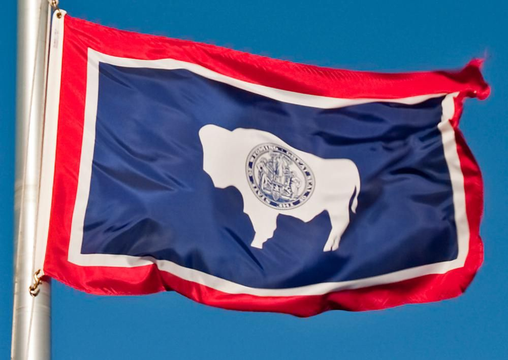 Wyoming State Flag Of Wyoming Usa Flag Store Trivia Today Wyoming State