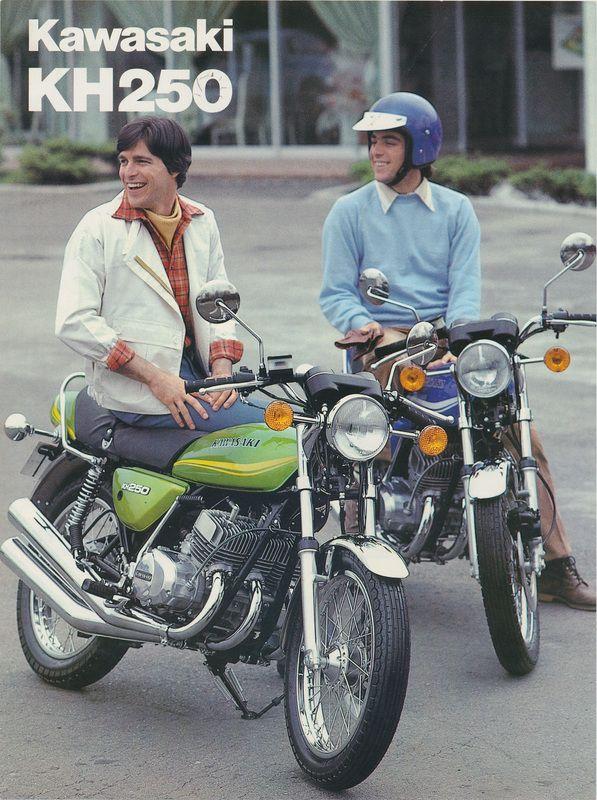 Kawasaki KH brochure Brochures, Vintage motorcycles and Vintage - sales brochure