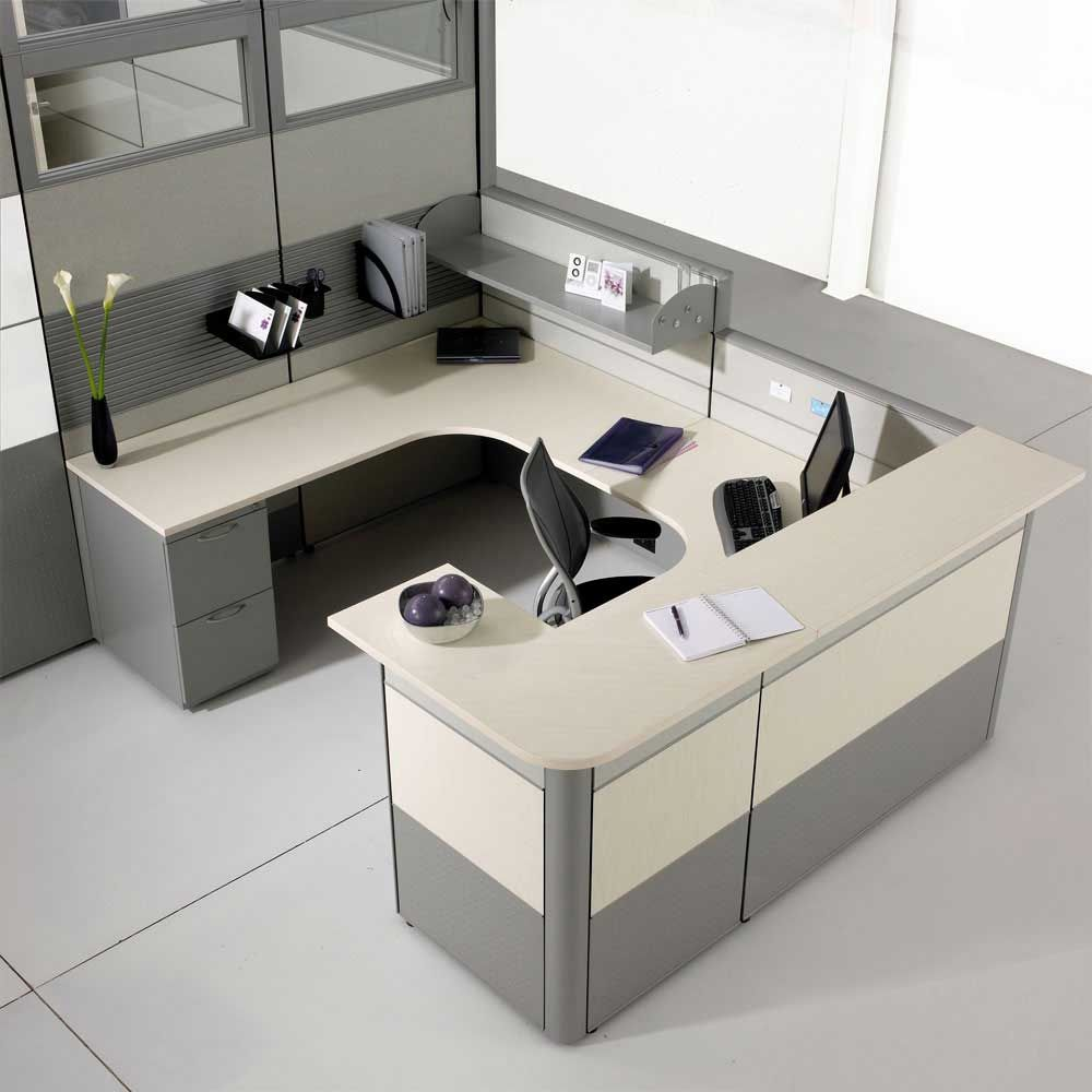 Ikea modern cubicle modular office furniture cubicles for Office desk layout ideas