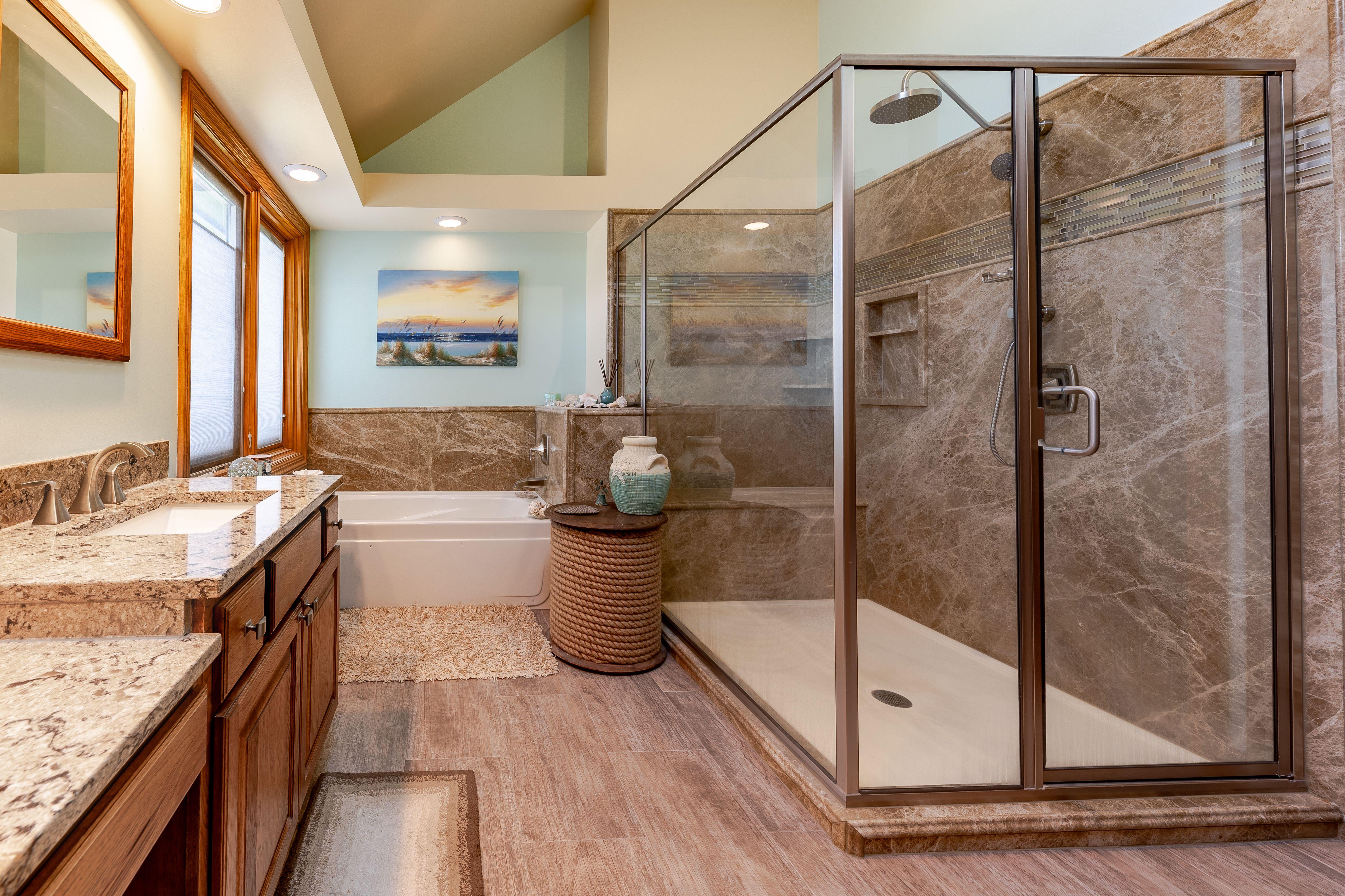 Large Stone Shower Bathrooms Remodel Stone Shower Bath Remodel [ jpg ]