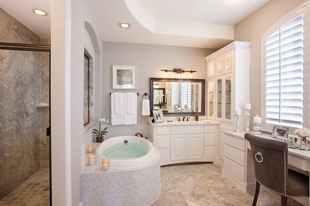 I Want: Towel Warmer Drawer Heated Floors Shutters Spa Like Bathroom A Make  Up Vanity