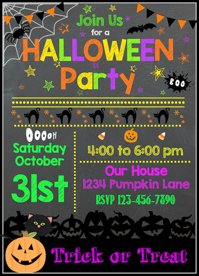 Free Halloween Printables Halloween Party Invitation Template Free Halloween Party Invitations Halloween Invitation Templates