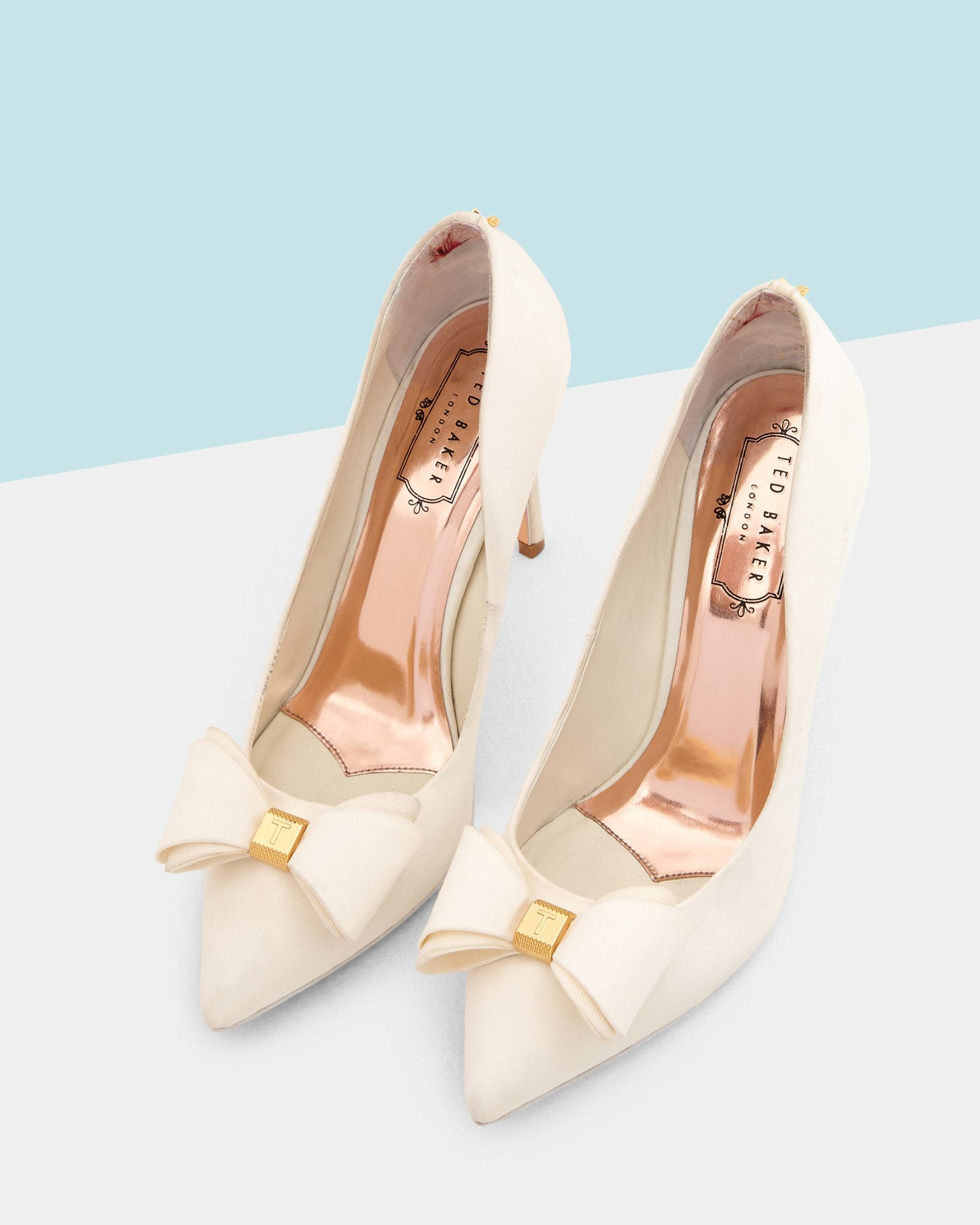 c79c99c96 Bow detail satin courts - Ivory