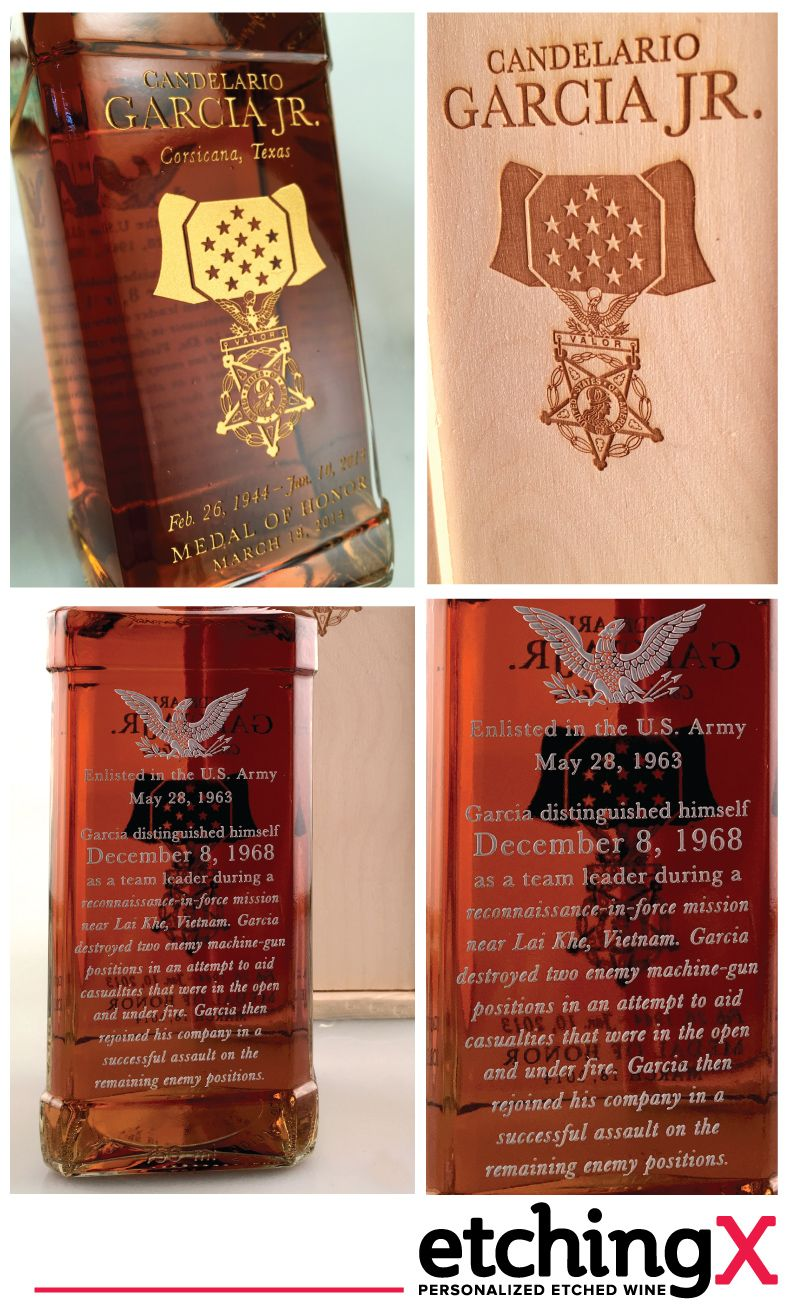 Check Out This Awesome Bottle We Made For A Vietnam Unit S Reunion Remembering Their Team Leader And Ce Engraved Wine Bottles Personalized Wine Bottles Bottle