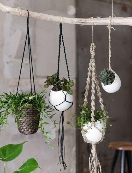 Risultato immagine per Free Macrame Patterns Plant Hangers