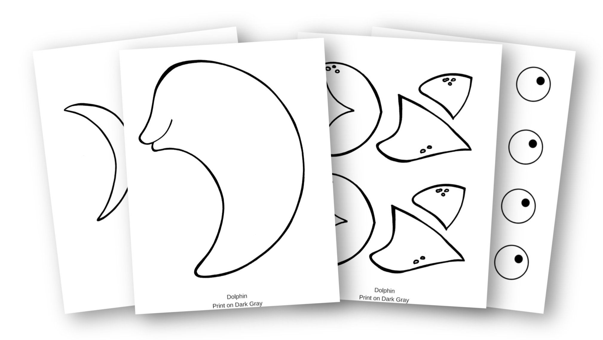 Free Printable Dolphin Craft For Kids