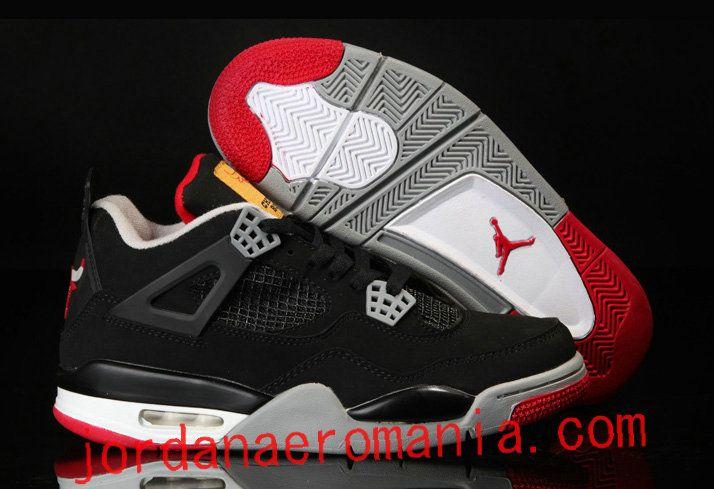 coupe classique 1fb13 f8e49 Acheter Chaussures Air Jordan 4 Chicago Bulls Logo Noir Red ...
