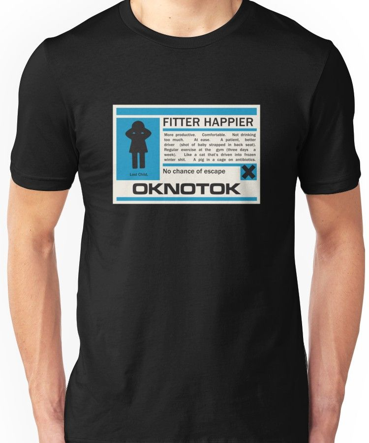 65c5ae41 Radiohead - Ok Computer - Fitter Happier Unisex T-Shirt | Products ...