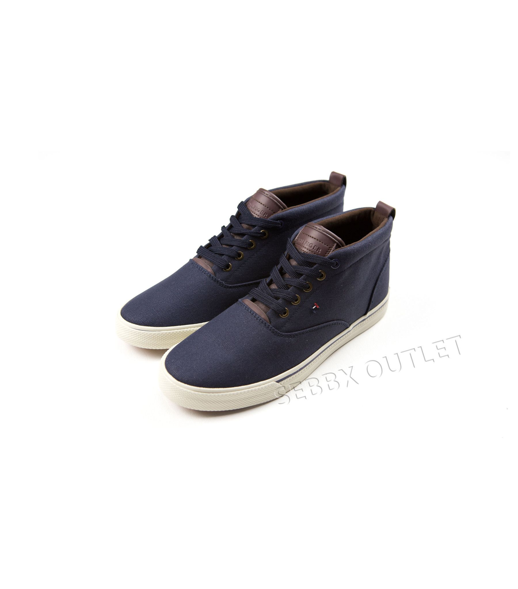 0f5816b11 Tommy Hilfiger Sneakers Reddington Hi Tops Navy Blue Lace Up Shoes ...