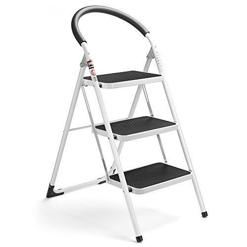 Pleasing Delxo 3 Step Ladder Folding Step Stool Stepladders With Machost Co Dining Chair Design Ideas Machostcouk