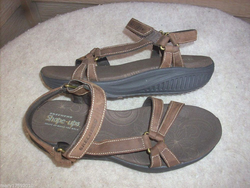Skechers Shape Ups women sandals 8 Brown New shoes #SKECHERS