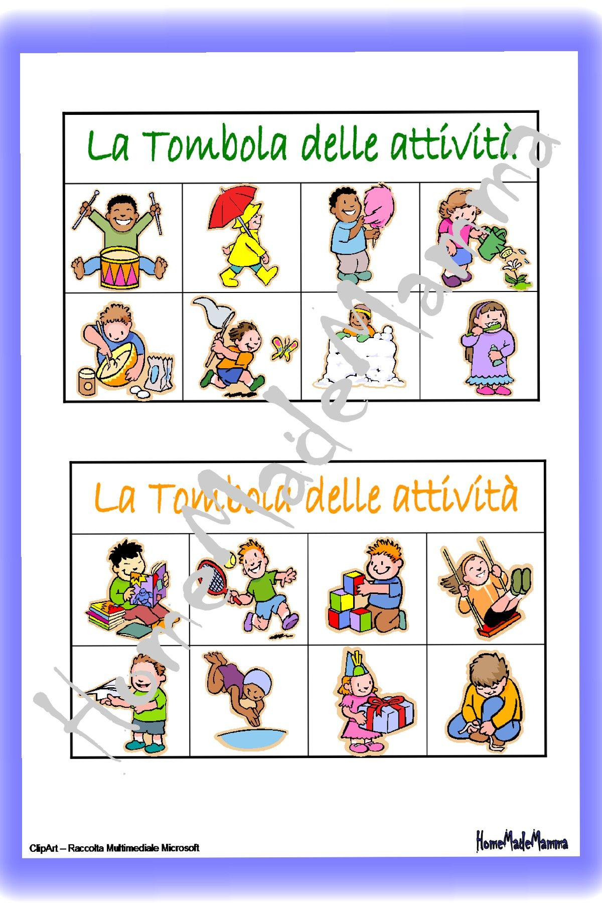 Tombola cartelle 1 da stampare pinterest for Tabellone tombola napoletana da stampare