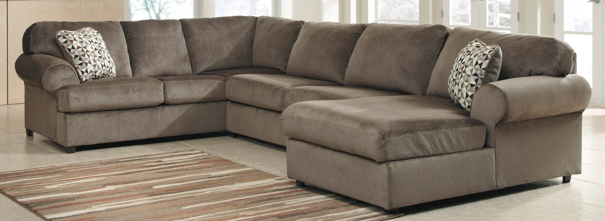Ashley Furniture 3980266 3980234 3980217 Jessa Place Dune Raf With Sectional Reviews 31944