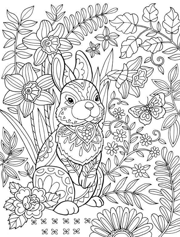 Pin By Sigridur Lilja Ragnarsdottir On Lita Prenta Bunny Coloring Pages Mandala Coloring Pages Coloring Pages