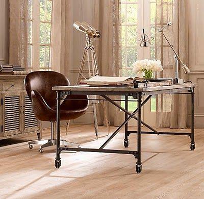Restoration Hardware Home Office Office Restoration Rustic Desk Industrial Desk